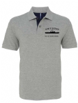 Mens Mid range contrast polo - SHIPS OUTLINE